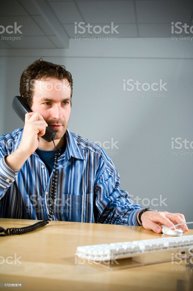 Man on the phone royalty-free stock photo