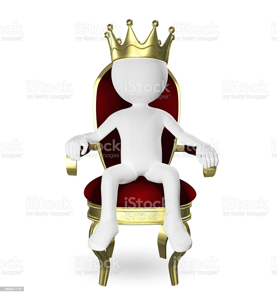 man on the throne royalty-free stock photo