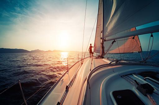 Man on the yacht