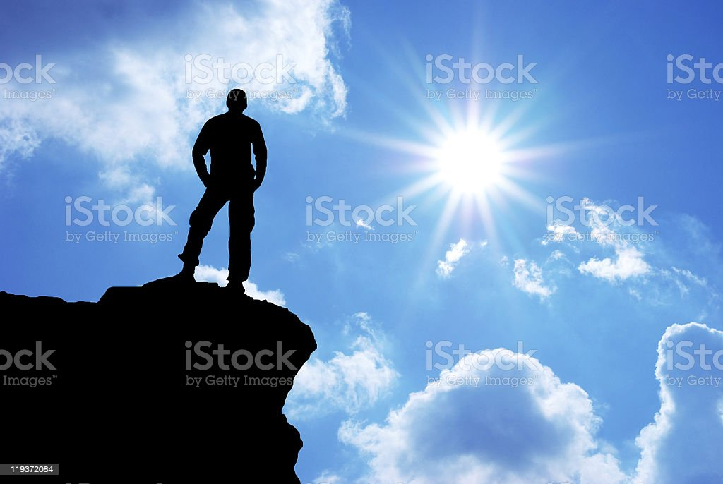 Man on top royalty-free stock photo