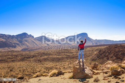Free man and majestic landscape