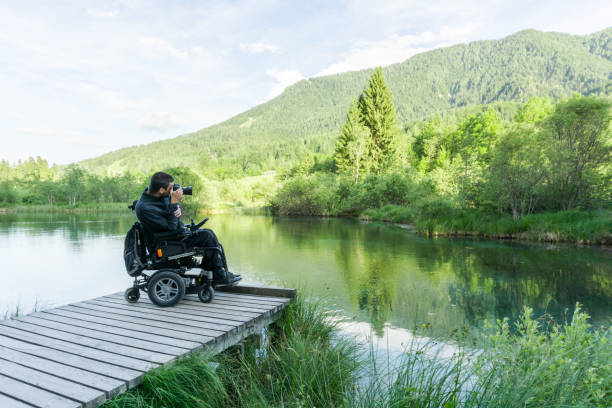 Man on wheelchair using mirrorless camera near the lake in nature picture id1091827704?b=1&k=6&m=1091827704&s=612x612&w=0&h=xxem7gr7u1nev0plwxdq89gnwn18at2y prkl xlvw0=