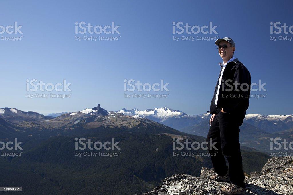 Mann auf dem Whistler Mountain - Lizenzfrei Abgeschiedenheit Stock-Foto
