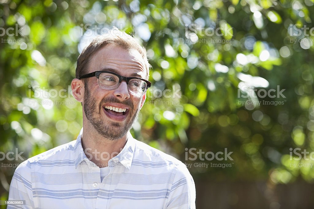 Man outdoors royalty-free stock photo