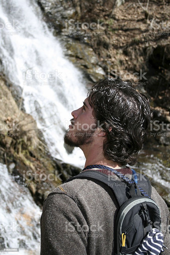Man Outdoors royalty free stockfoto