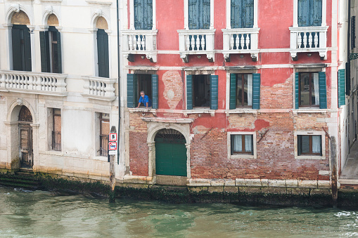 Man overlooking Grand Canal