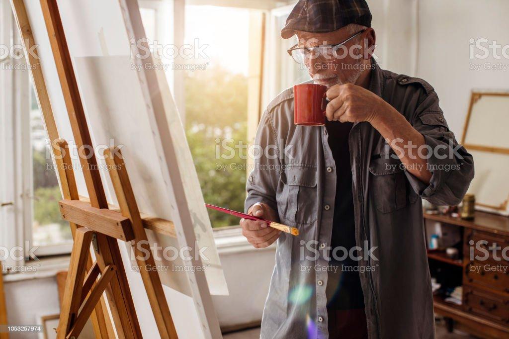 Peinture sur toile homme - Photo
