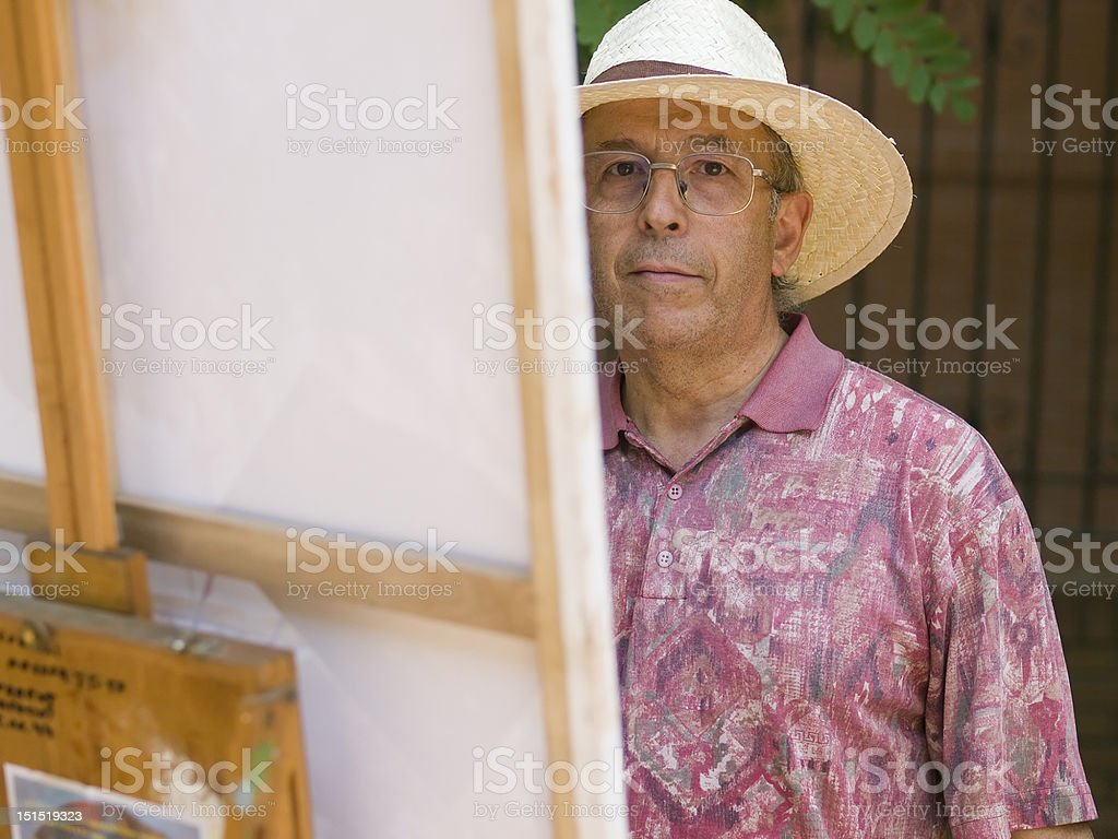 Man painting royalty-free stock photo