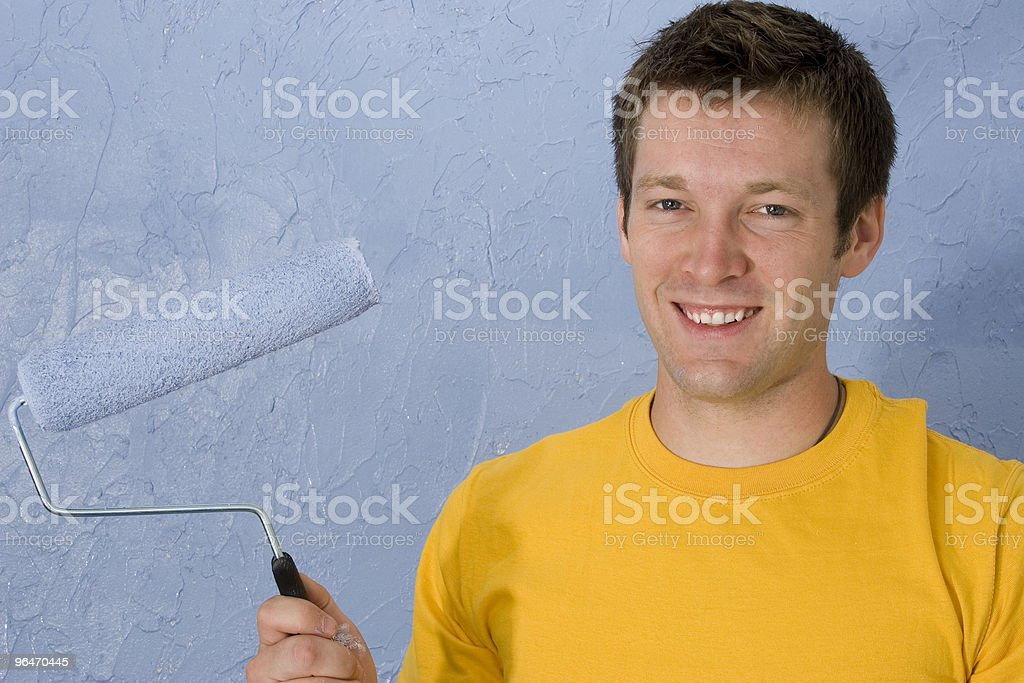 Man Painting royalty-free stock photo