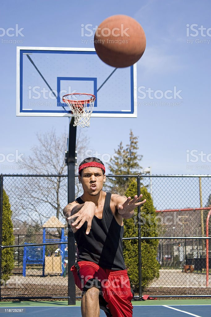 Man Passing the Basketball royalty-free stock photo