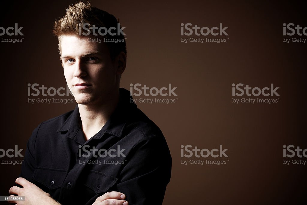 Man paying attention stock photo