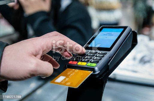 Credit Card Purchase, PIN Entry, Password, Buying, Groceries