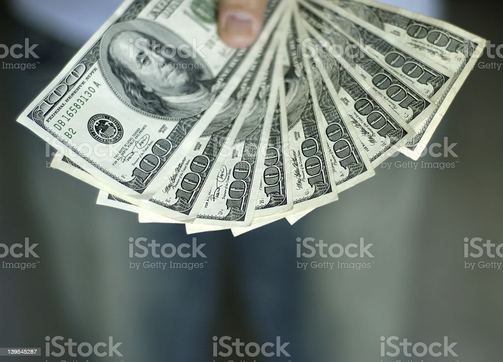Man paying up stock photo