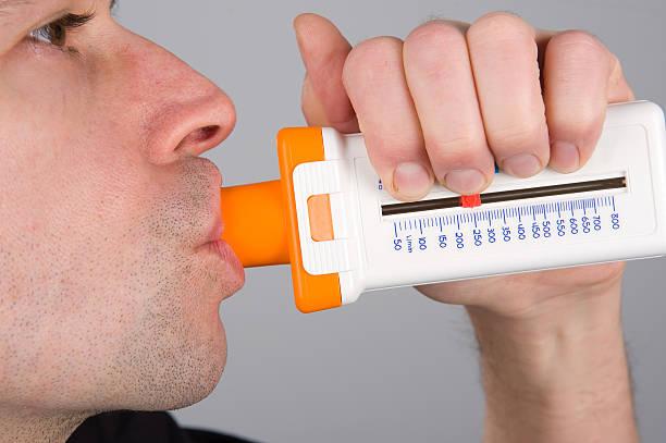 Função pulmonar teste - foto de acervo