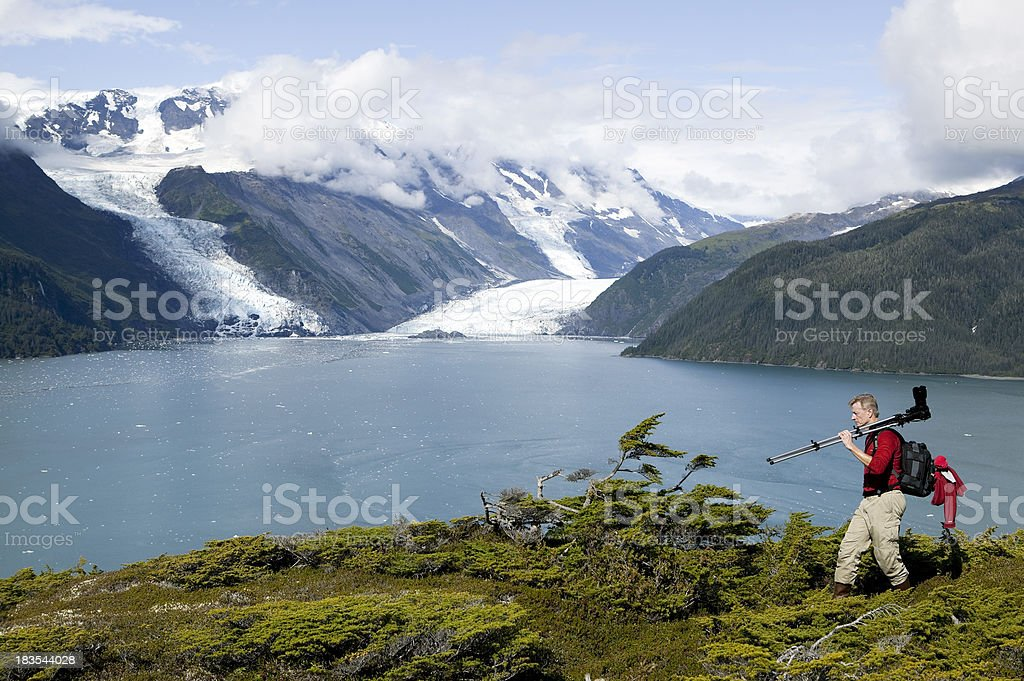 man photographing hobby alaska royalty-free stock photo