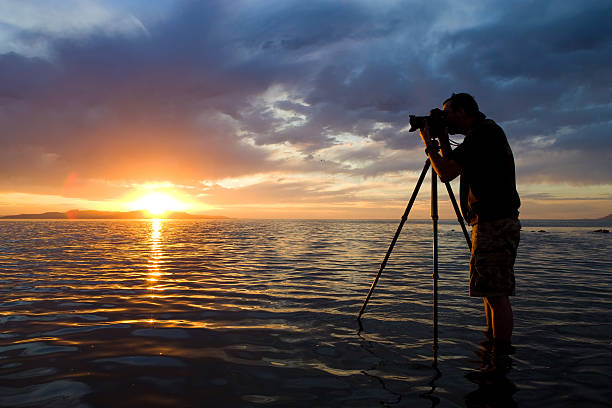 Man photographing in water at sunset picture id108201497?b=1&k=6&m=108201497&s=612x612&w=0&h=xwlgznw2cdlaxtq3f6cg3hv0hgx9vuenuvr3teduz9m=