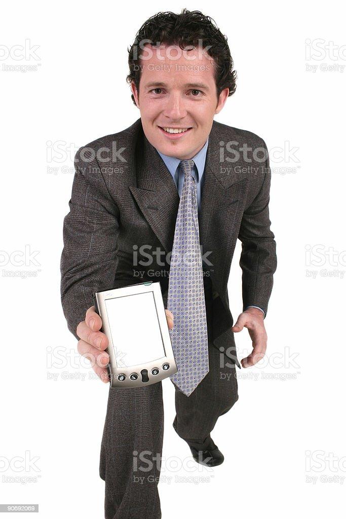 PDA Man royalty-free stock photo