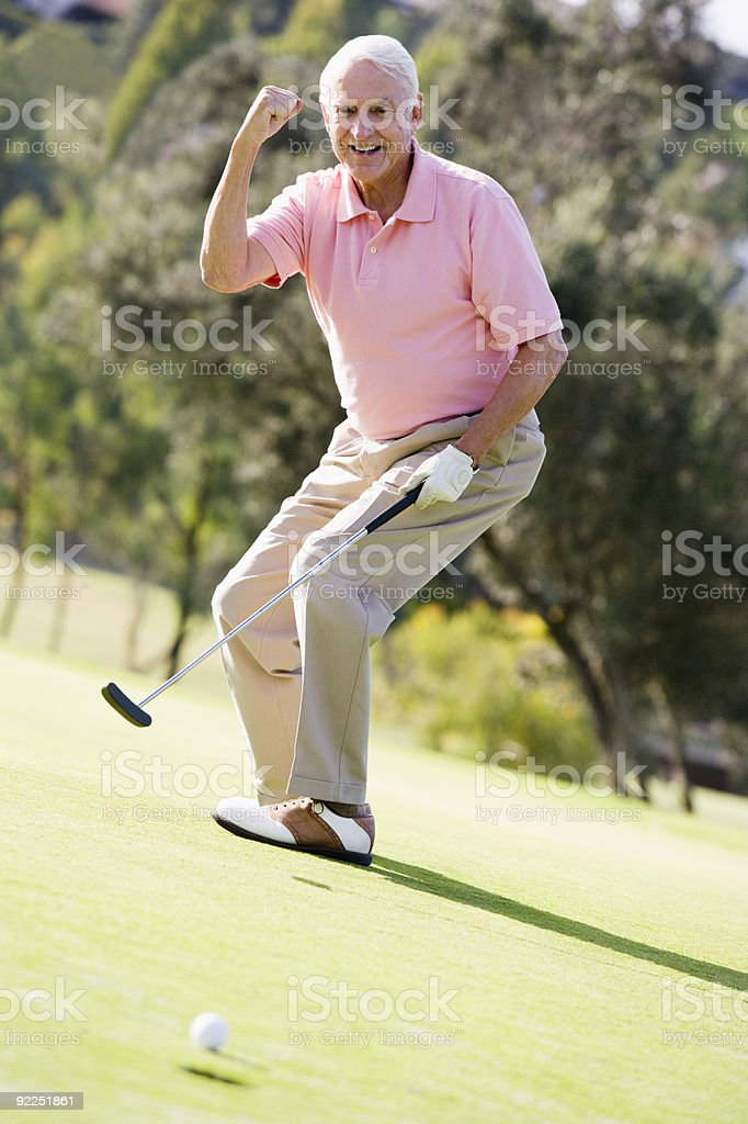 Man Playing A Game Of Golf royalty-free stock photo