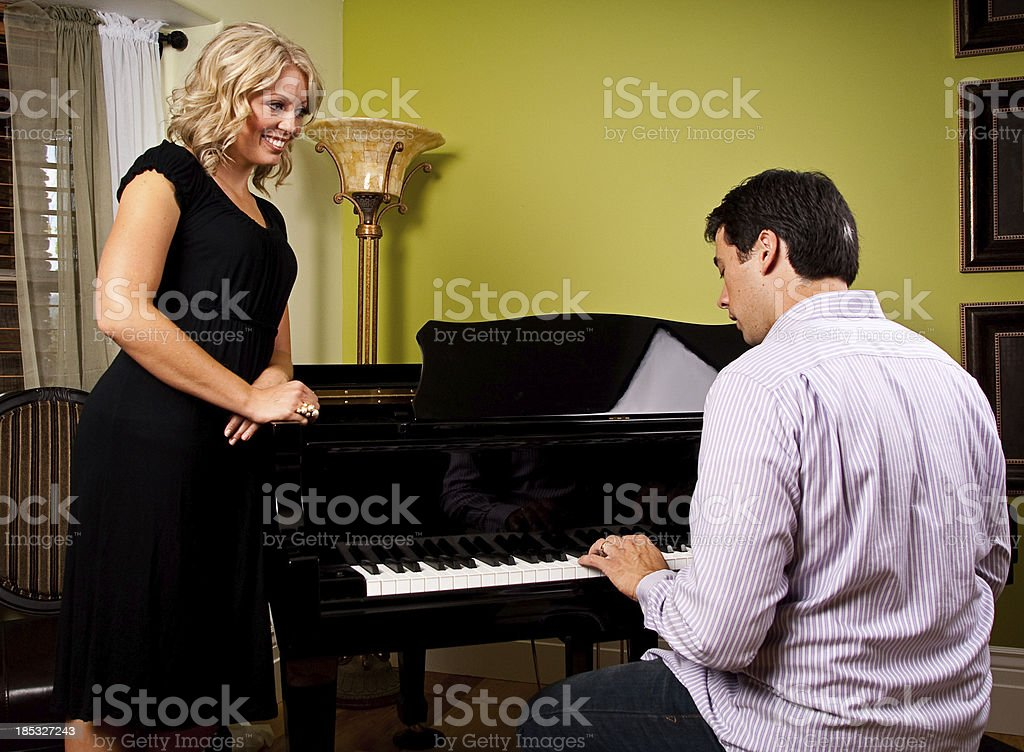 Man Playing a Piano to a Woman - Shot at Utahlypse 2011