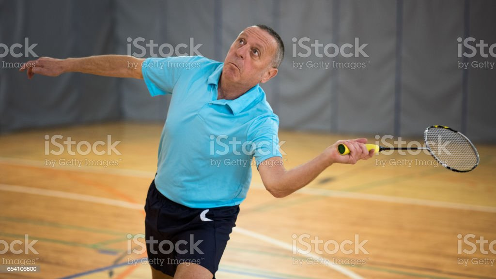 Homme, jouer au badminton - Photo