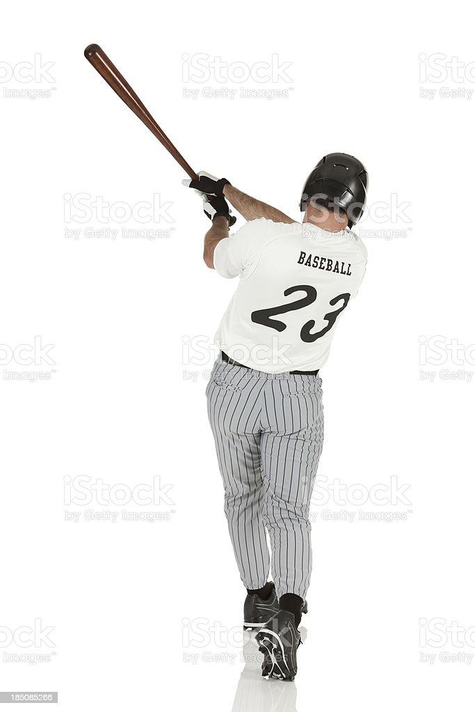 Man playing baseball royalty-free stock photo