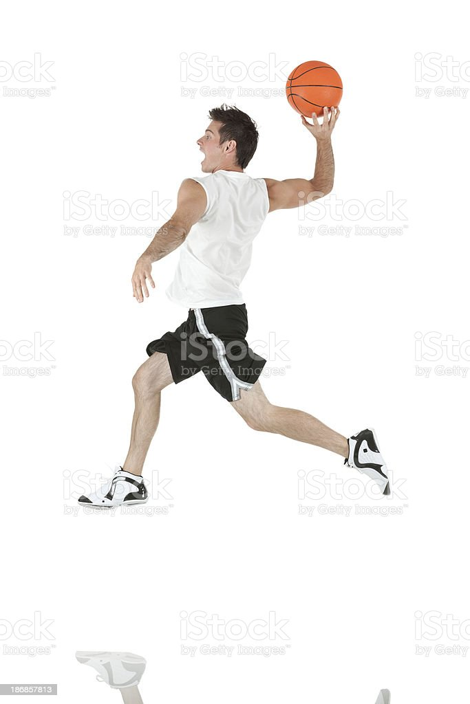 Man playing basketball royalty-free stock photo