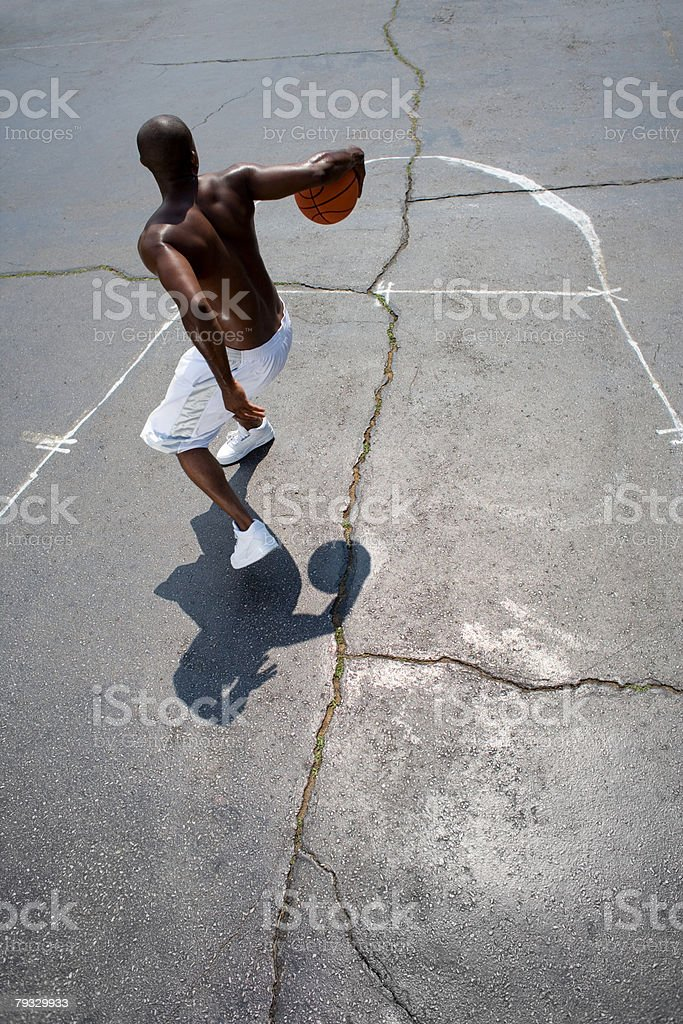 A man playing basketball royalty-free 스톡 사진