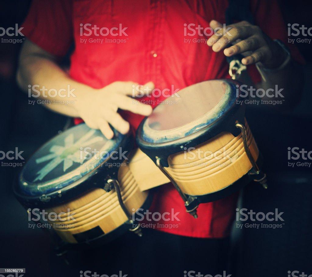 Man Playing Bongos Stock Photo - Download Image Now - iStock