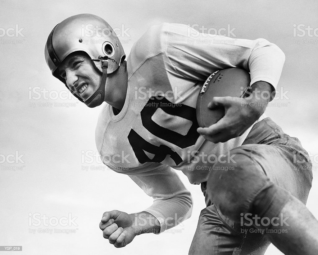 Man playing football royalty-free stock photo
