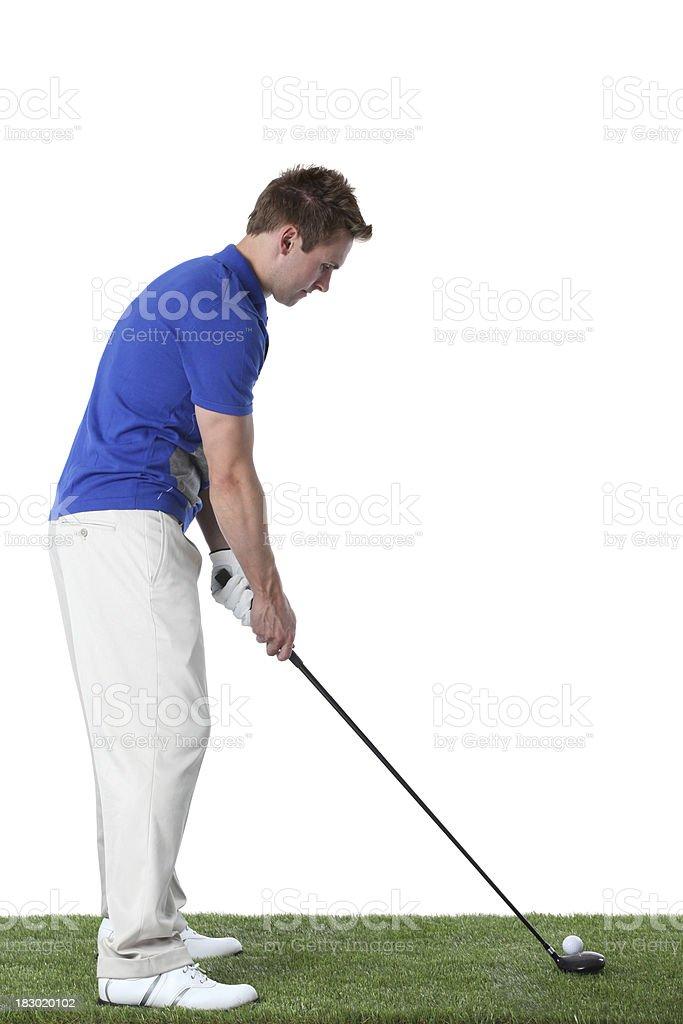Man playing golf royalty-free stock photo