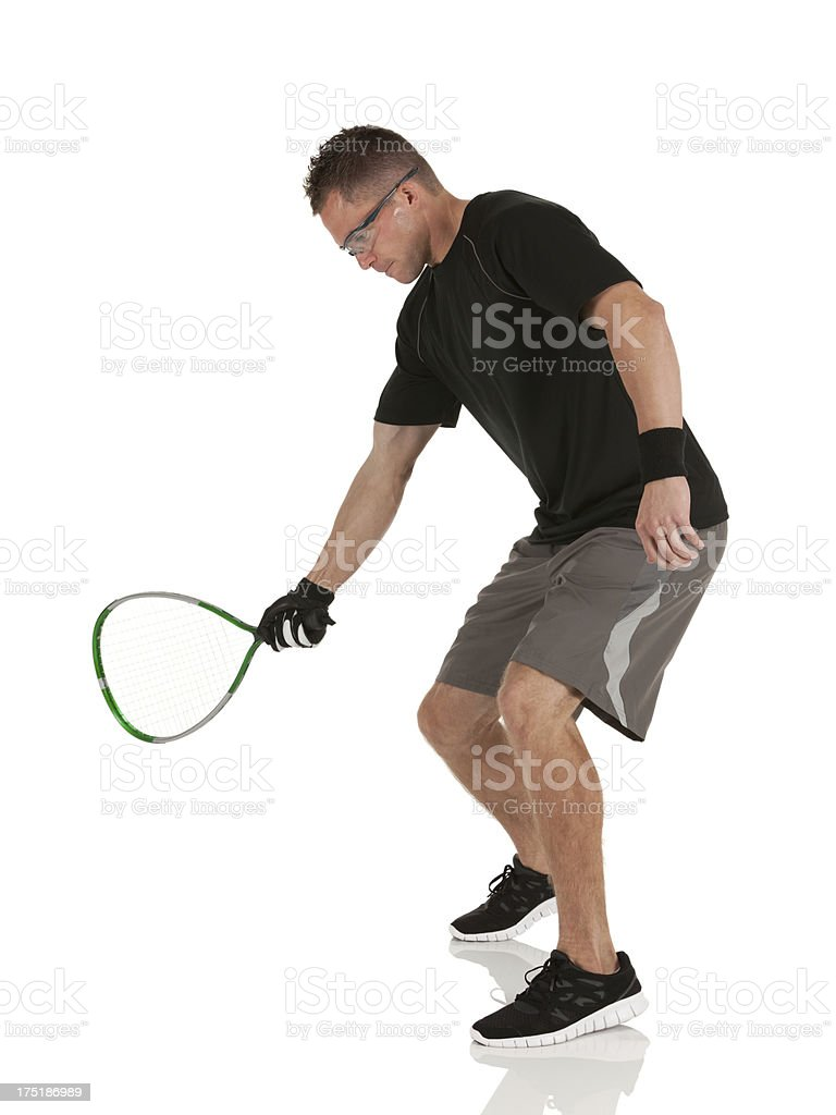 Man playing racquetball royalty-free stock photo