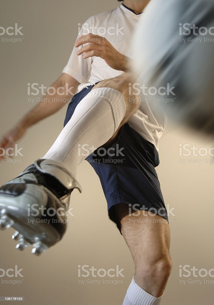 Man Playing Soccer stock photo