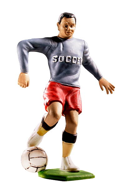 Man Playing Soccer stock photo