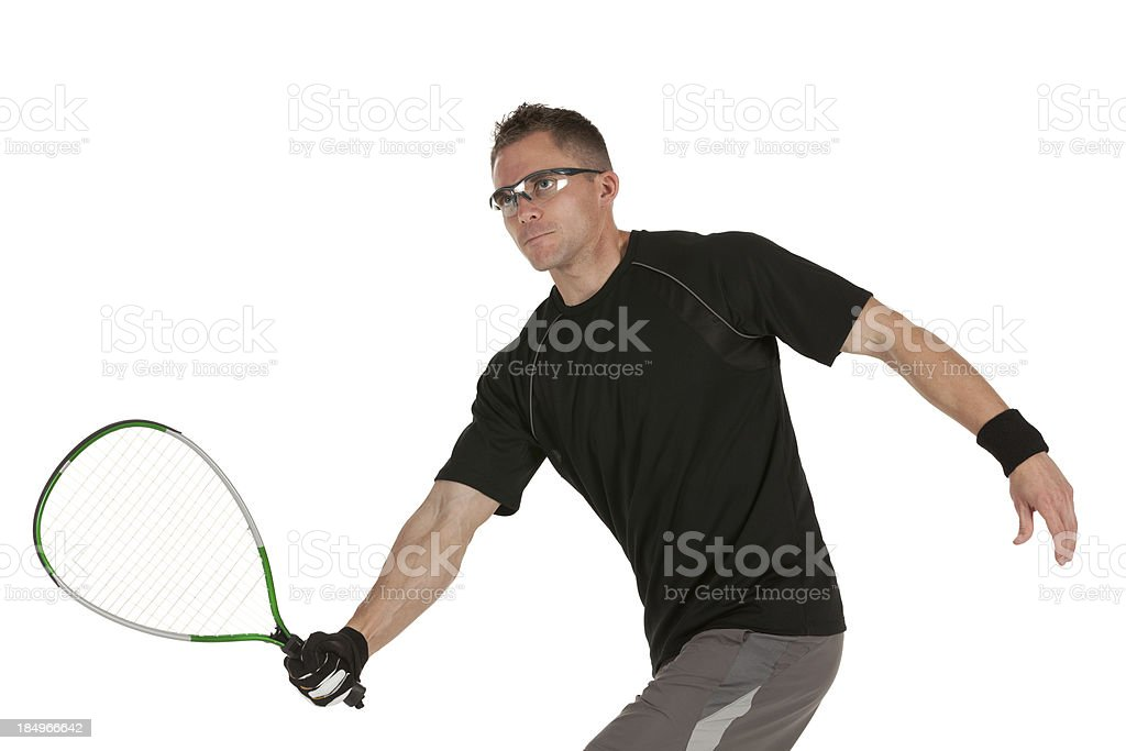 Man playing squash stock photo