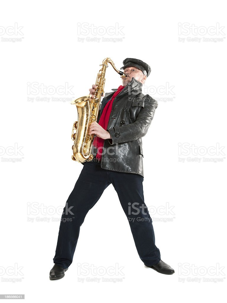 man playing the trumpet stock photo