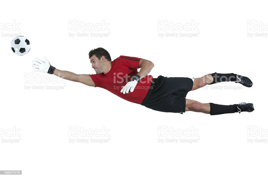 Man playing with a soccer ball stock photo