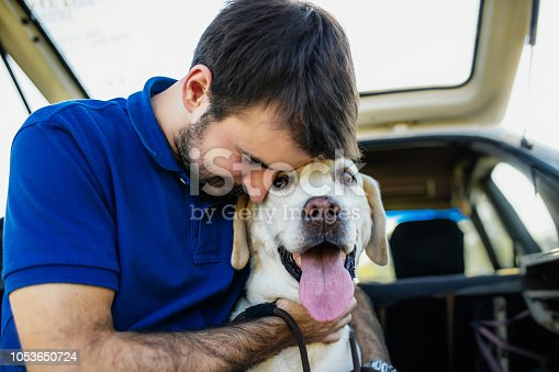 937331052istockphoto Man playing with his dog 1053650724