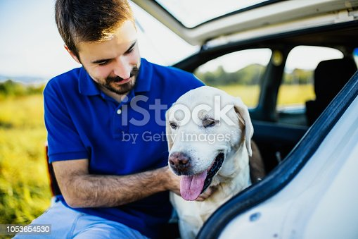 937331052istockphoto Man playing with his dog 1053654530