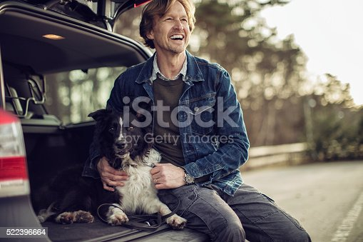 517930062 istock photo Man playing with his dog 522396664