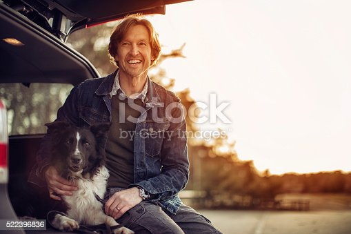 517930062 istock photo Man playing with his dog 522396836