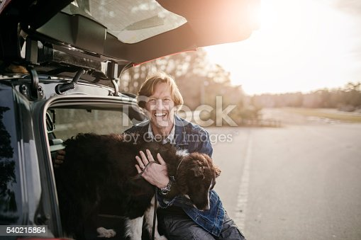 517930062 istock photo Man playing with his dog 540215864
