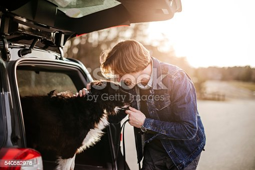 517930062 istock photo Man playing with his dog 540582978