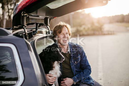 517930062 istock photo Man playing with his dog 540583328