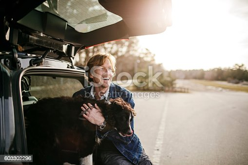 517930062 istock photo Man playing with his dog 603302296