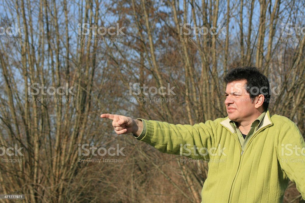 man pointing royalty-free stock photo