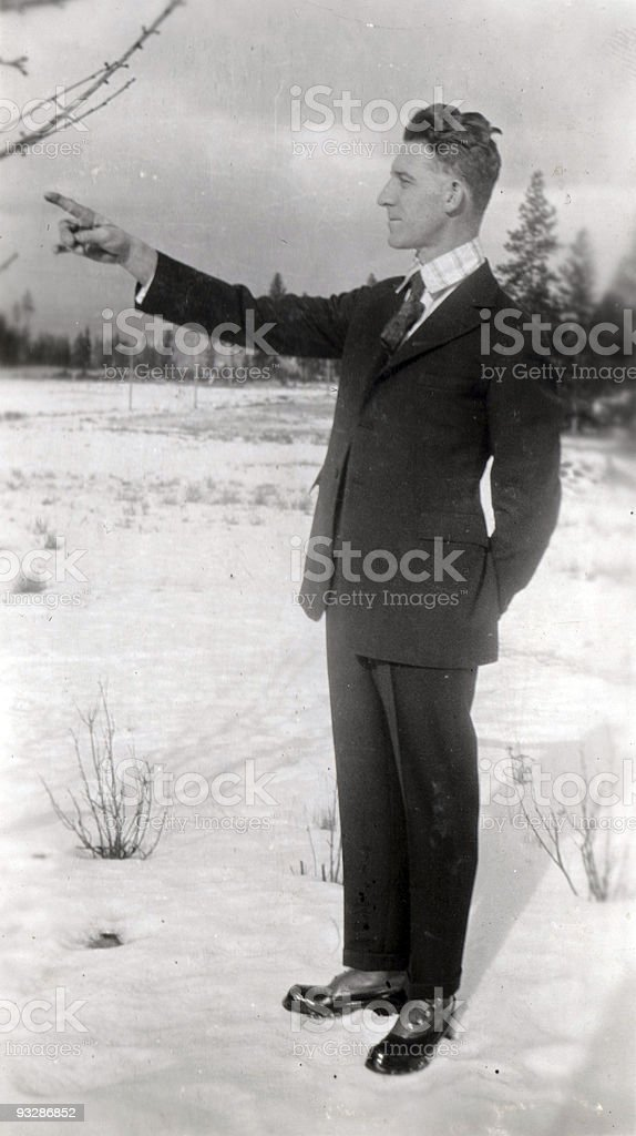 Man pointing royalty-free stock photo