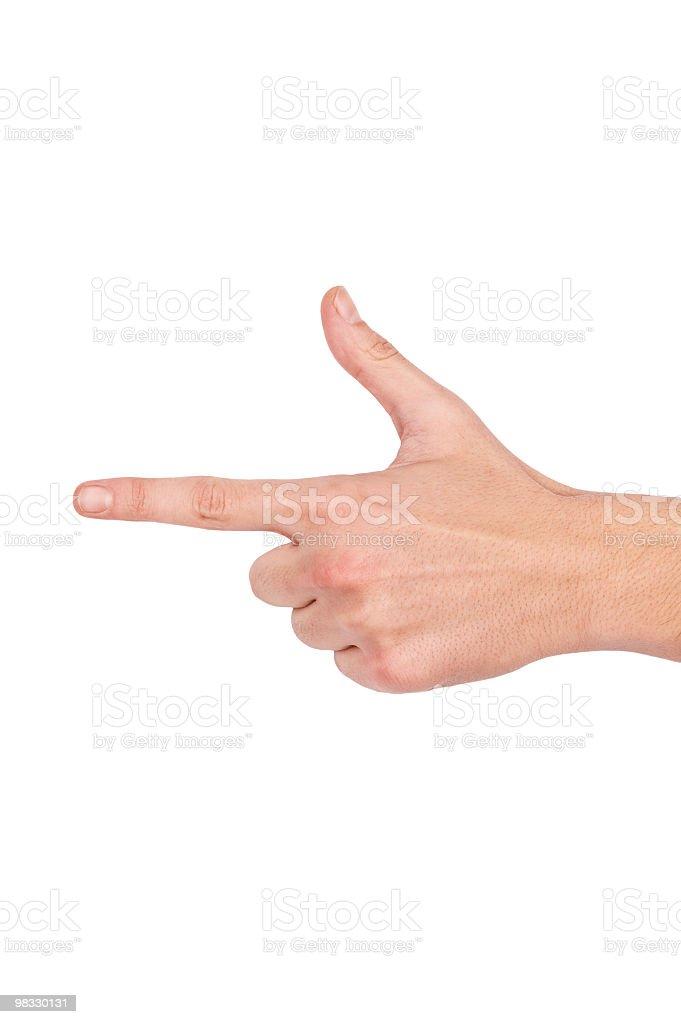 Man pointing something royalty-free stock photo