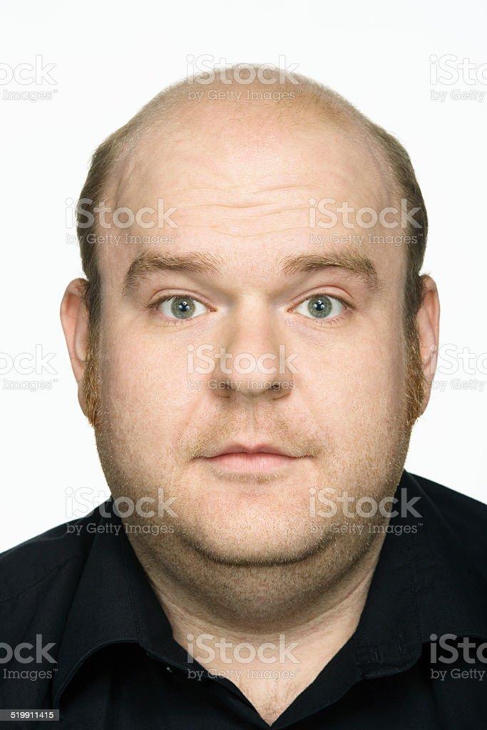 Man, portrait, close-up stock photo