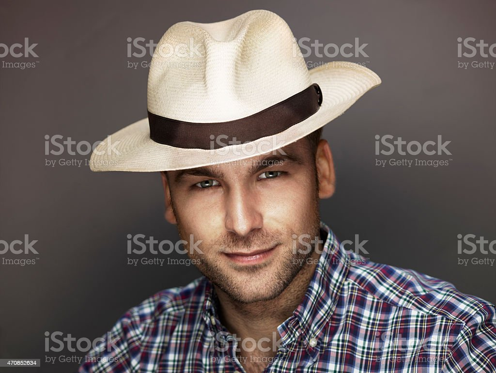 Man Portrait, Color Image stock photo