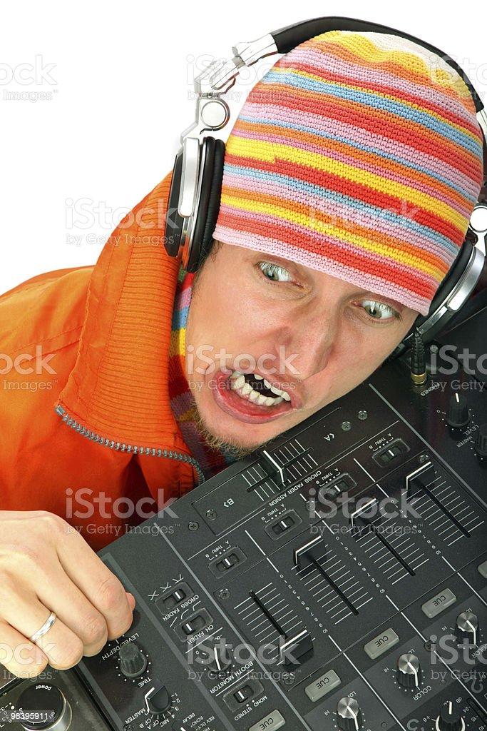 Ritratto di uomo di DJ foto stock royalty-free